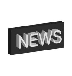 3D banner news vector image vector image