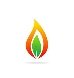 bio gas leaf abstract logo vector image vector image