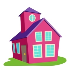 Colored house icon cartoon style vector image