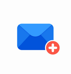 email message plus icon vector image vector image