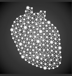 Human heart isolated on a black background vector