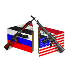russia usa and syria break vector image