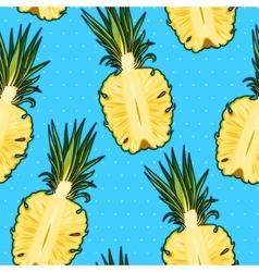 Seamless pineapple and polka dot vector image