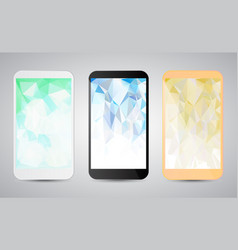 set of modern gadgets with colorful backgrounds on vector image vector image