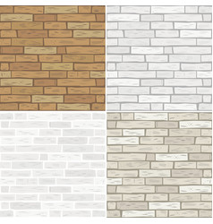 set textures of brick vector image vector image