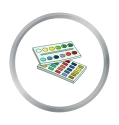 Watercolor paint icon in cartoon style isolated on vector image vector image