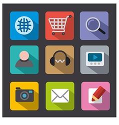 web icon set flat vector image vector image