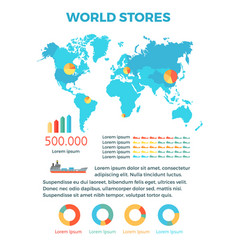 world stores conceptual flat banner vector image vector image