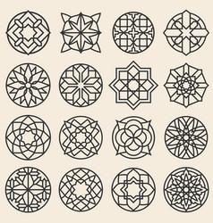 arabesque ornaments star logo design vector image vector image