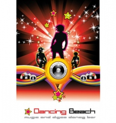 music flyer background vector image vector image