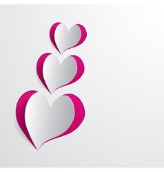 cut hearts vector image vector image