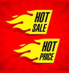 hot sale and hot price labels vector image