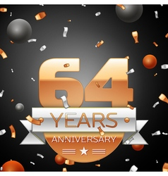 Sixty four years anniversary celebration vector image