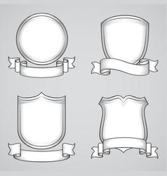 vintage heraldic elements vector image vector image