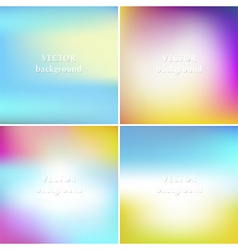 Abstract colorful blurred summer backgrounds set vector image