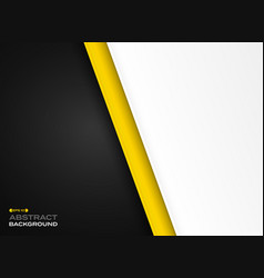 abstract of futuristic technology yellow black vector image