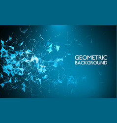 abstract polygonal background geometric graphic vector image vector image