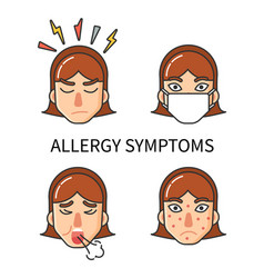 Allergy symptoms hypersensitivity of organism vector