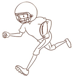 An American football athlete vector image