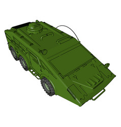 Armored car loaded with weapons or color vector