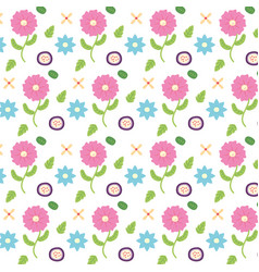 background flowers floral decoration vector image