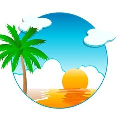 beach background vector image