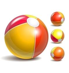 Beach balls vector