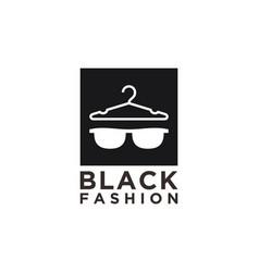 Black fashion glases hanger element design vector