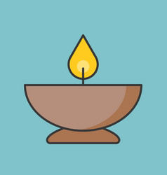 candle in bowl icon vector image