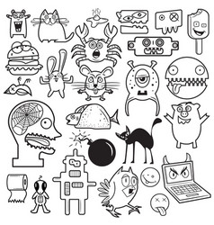 cartoon doodles vector image vector image