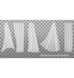 Collection of transparent curtains vector image