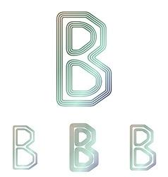 Color letter b logo design set vector image