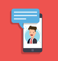 concept of an incoming message on a mobile phone vector image