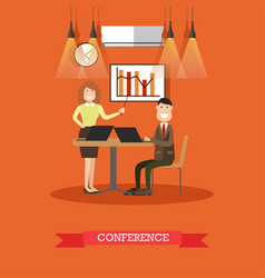 conference concept in flat vector image