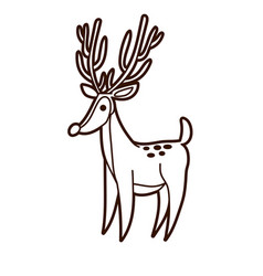 deer graphic vector image