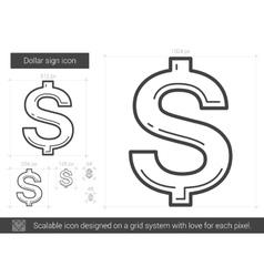 Dollar sign line icon vector