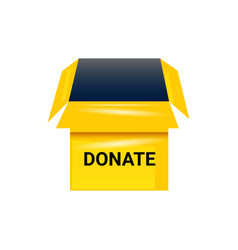 Donate box isolated on white vector