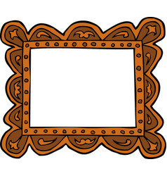 Doodle picture frame vector
