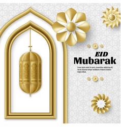 Eid mubarak background islamic arabic template vector