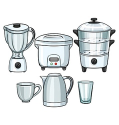 Electronic equipment using in kitchen vector image