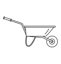 Farming wheelbarrow icon outline style vector