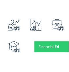 Financial education stock market analysis vector