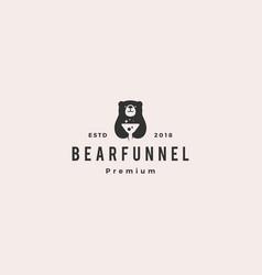 funneling bear logo icon vector image