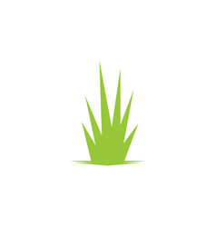 grass leaf landscape icon element vector image