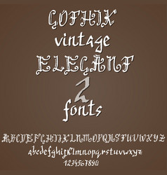 hand drawn modern dry brush lettering gothic vector image