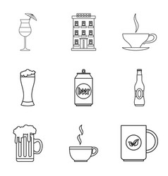 Hangover icons set outline style vector