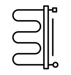 heater boiler icon outline style vector image
