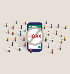 Hoax news spread using group chat messaging app vector