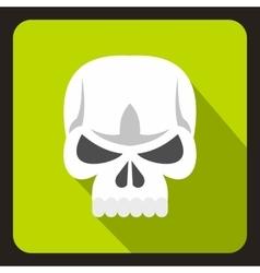 Human skull icon flat style vector image