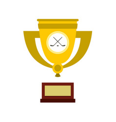 Ice hockey cup icon flat style vector